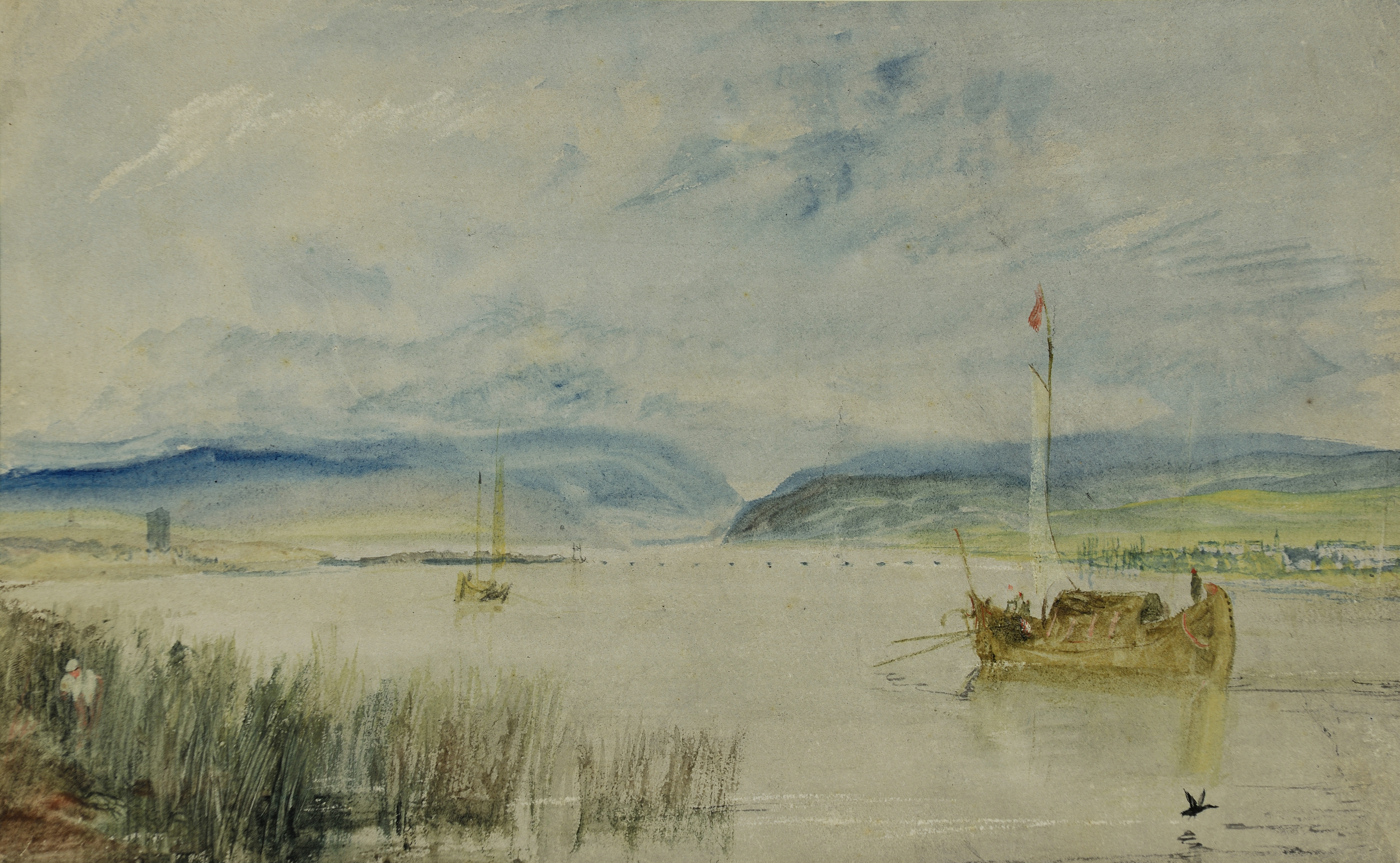 JMW Turner, Neuwied and Weissenthurm on river Rhine 1817